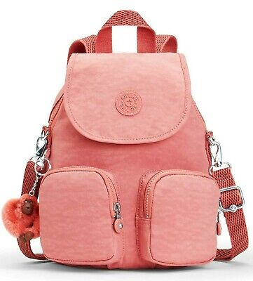 Kipling FIREFLY UP Small Backpack Covertible To Shoulder Bag - Dream Pink
