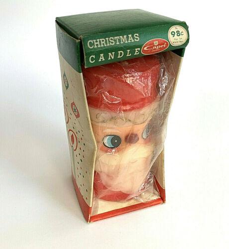 "Capri Santa Claus Christmas Candle No 5845 5"" Tall in Original Pkg Vintage 1967"