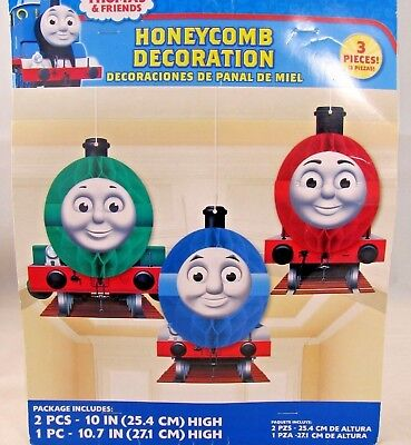 Thomas the Tank Train Party Supplies Honeycomb Decorations 3ct. - Thomas Party Supplies
