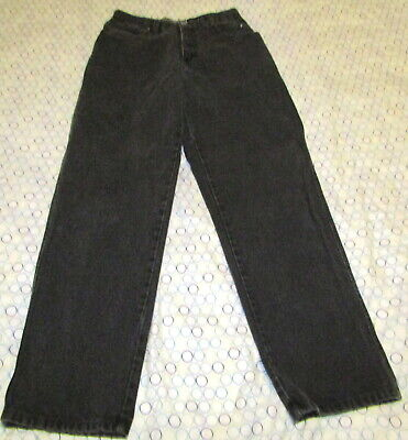 Vintage Harley Davidson Biker Blues Black Denim Jeans Pants Women's Size 10 Cute