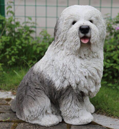 NEW OLD ENGLISH SHEEPDOG Dog Figurine -Life Like Figurine Statue Home / Garden