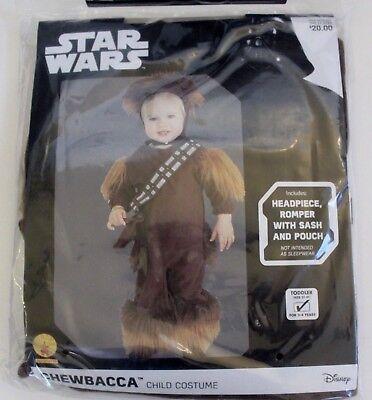 Disney Star Wars Chewbacca Child Costume 3T - 4T Headpiece Romper Sash Pouch - Chewbacca Sash
