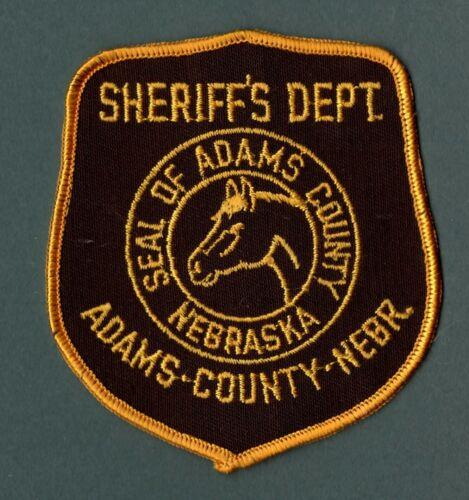 Adams County Nebraska Sheriff Police Patch