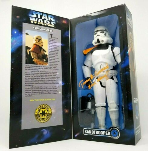 """TERRY MCGOVERN SIGNED 12"""" COLLECTOR SERIES SANDTROOPER MOVE ALONG COA STAR WARS"""
