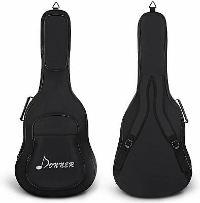 "41"" Acoustic Guitar Gig Bag Carrying Backpack Waterproof Soft Case 3 Pockets USA"