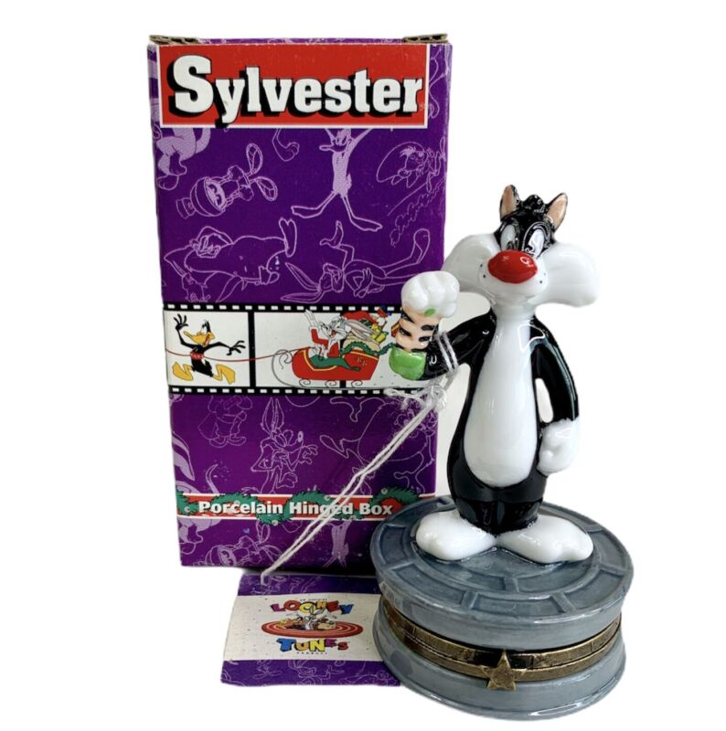 Midwest Of Cannon Falls LOONEY TUNES SYLVESTER Hinged PORCELAIN Trinket Box NOS