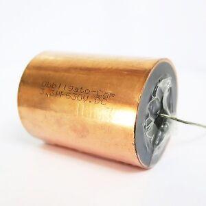 Obbligato Copper Capacitor 3.3uF (630V). Solid copper case. Smooth sound.