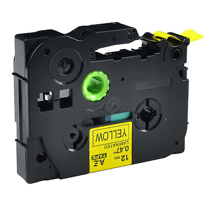 Tz631 Tze631 Black On Yellow Label Tape For Brother P-touch Pt-1200 Pt-1280 12