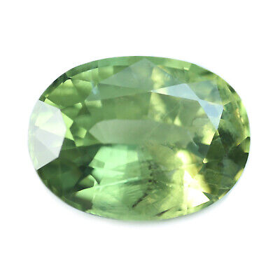 Certified Natural Green Sapphire 1.14ct VS Clarity Madagascar Oval 7.1x5.3 mm