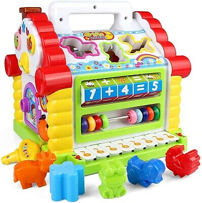 Electronic Musical Activity Play Center House with Counting Animals Piano