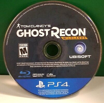 Tom Clancys Ghost Recon  Wildlands  Sony Playstation 4  2017  Disc Only 11733