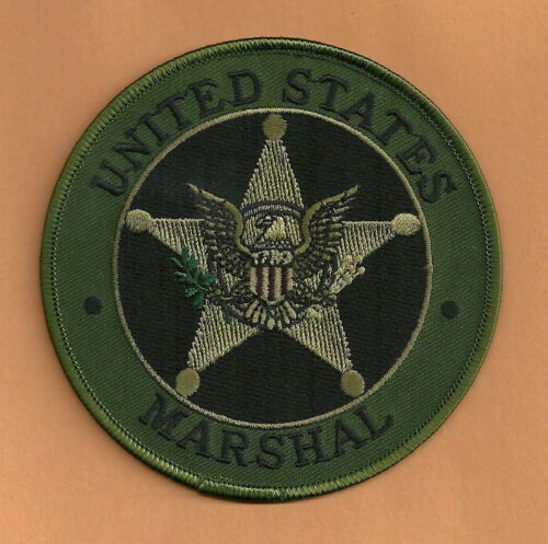 """UNITED STATES MARSHAL SERVICE SEAL SHOULDER PATCH 4"""" TACTICAL GREEN"""