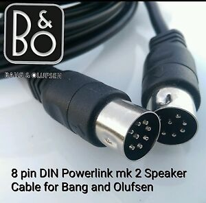 8 pin DIN Powerlink mk2 FULLY WIRED Speaker Cable 4 Bang & Olufsen B&O BeoLab 2m
