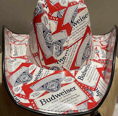 BUDWEISER Beer Carton COWBOY HAT Anheuser Busch One Size Fits Most