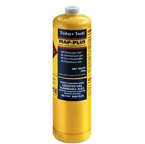 Mapp / Map Plus Propane Bottle Disposable Gas Cylinder plumbers torch jet burner