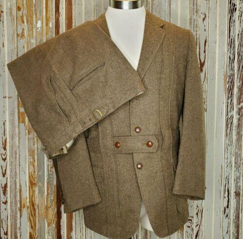 Vtg Wool Bavarian 2PC Suit Jacket Pants Neiman Marcus 1970
