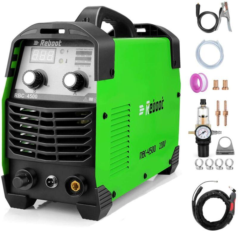 "Plasma Cutter 45 Amps IGBT Inverter Air Plasma Cutting 1/2"" Clean High-Frequency"