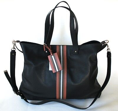 VALENTINO GARAVANI striped shopper bag rockstud studded tote handbag purse NEW for sale  Shipping to Canada