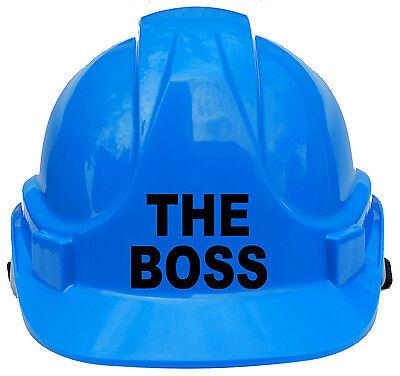 The Boss Children/Kids Hard Hat Safety Helmet Construction Cap One Size