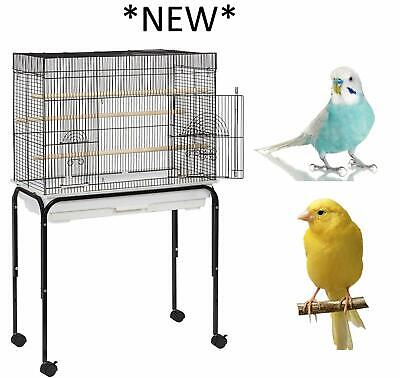 INDIANA EXTRA WIDE 64 CM BUDGIE COCKATIEL FINCH CANARY CAGE WITH TROLLEY STAND