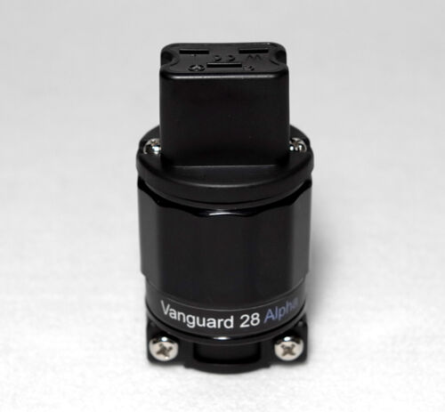 Vanguard 28 Alpha-C19 R CRYO Pure Copper Rhodium Plated IEC 20A Connector Plug