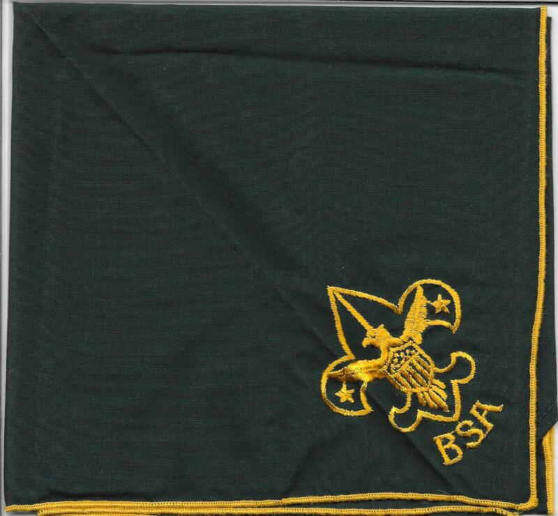 Generic Embroidered GRN Neckerchief Boy Scouts of America BSA