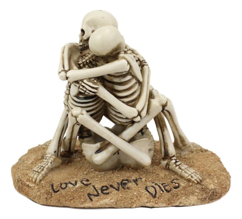 Day Of The Dead Love Never Dies Castaway Wedding Skeleton Couple Hugging Statue
