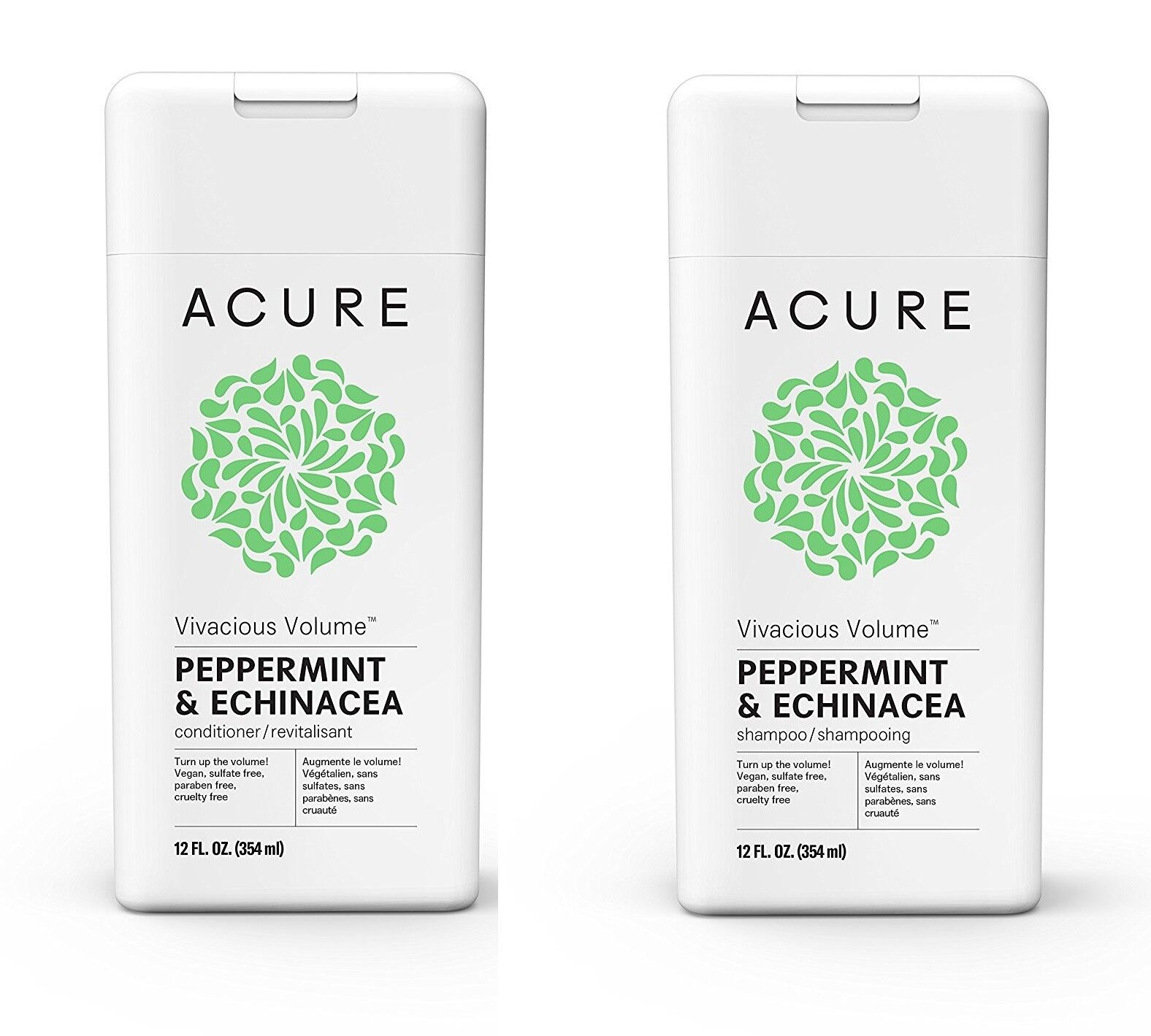 Acure Vivacious Volume Peppermint Shampoo And Conditioner