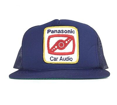Vtg Panasonic Car Audio Patch Logo Trucker Hat Cap SnapBack Men's Size Polyester Cap Car Audio