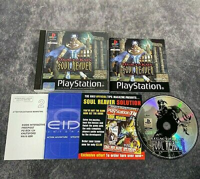 Legacy Of Kain Soul Reaver PS1 PlayStation 1 PAL Game Complete Black Label