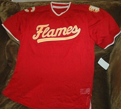 ... authentic calgary flames jersey baseball mens large new with tags nhl  2018 winter red bd563 65c97 1b63dd760