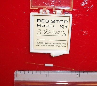 Qty 1 Eltec Model 104 High Megohm Tubular Resistor 3.96x106