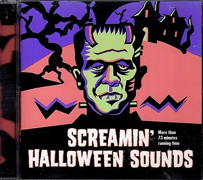 SCREAMIN' HALLOWEEN SOUNDS: VINTAGE 1997 K-TEL HAUNTED HOUSE CD: OVER 73 MINUTES (Halloween Over Christmas Music)