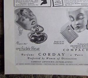 1927-Vintage-CORDAY-Orchidee-Bleue-Perfume-Compact-Beauty-Ad