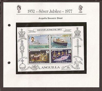 Anguilla 1977. Scott 271-274a (MNH) Silver Jubilee sheet. boats, Charles