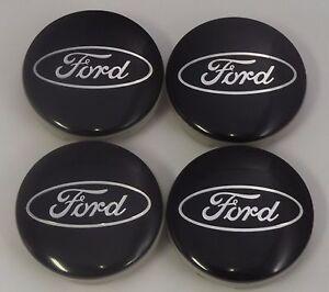 4x 54mm Ford Black Escape Fusion Focus Fiesta Center Caps Tire Valve Cap