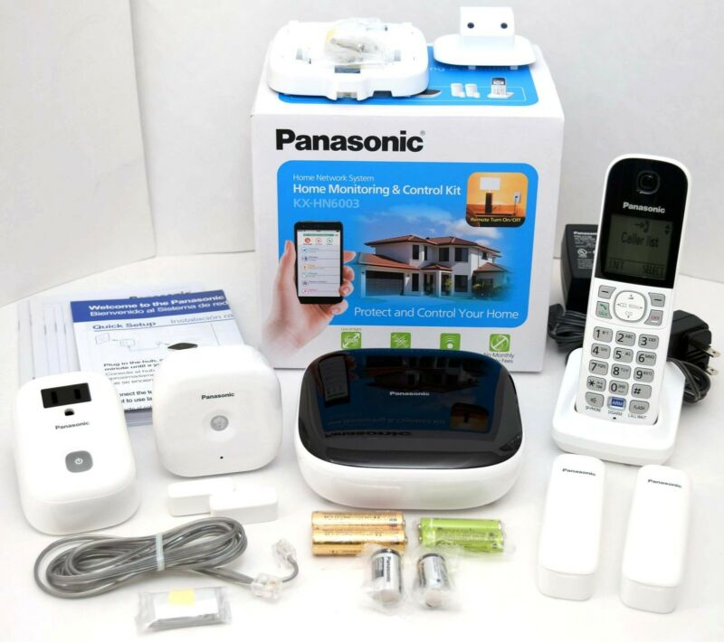 Panasonic 4-Channel Wireless Surveillance System White/Black KX-HN6003W