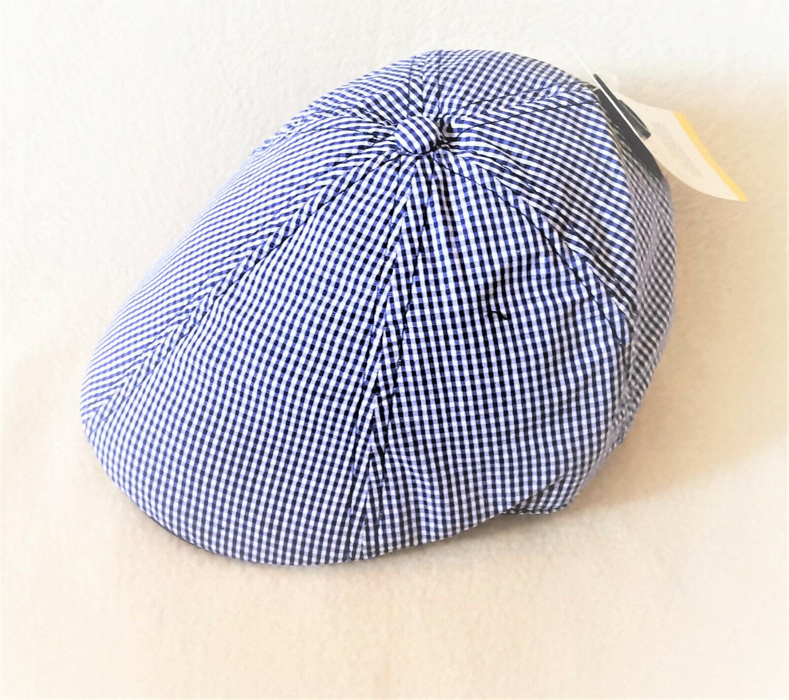 Leichte Sport/Schiebermütze für Kinder Klein-Karo aus Baumwolle