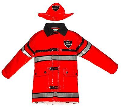 Splashy Kids Firefighter Rain Jackets & Hats - Red, Great for Halloween - Fireman Hats For Kids