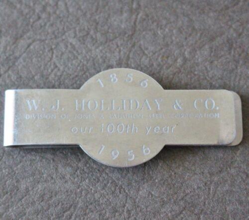 1956 WJ Holliday & Company Jones & Laughlin Steel Corp MONEY CLIP Indianapolis