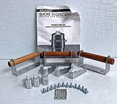 NEW BRINKMANN SMOKE 'N GRILL ELECTRIC SMOKER KIT SUPPORT BRACKETS HANDLES SCREWS