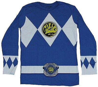Mighty Morphin Power Rangers Blue Ranger Costume (Mighty Morphin Power Rangers Long Sleeve Mens T-Shirt  - Blue Ranger)