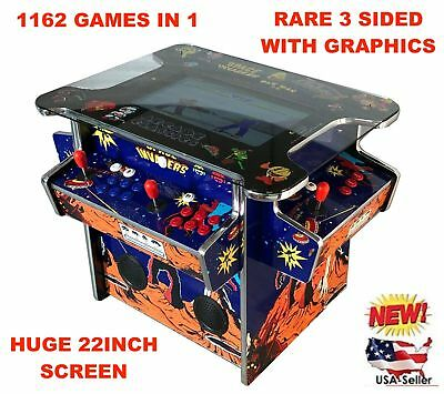 ✅ 4 PLAYER Cocktail Arcade Machine🔥1162 Classic Games ✅ 165LB commercial grade