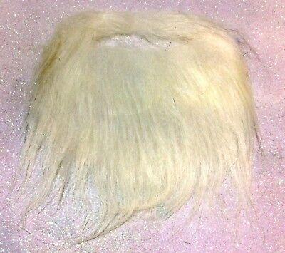 CARNEVALE HALLOWEEN BARBA FINTA BIANCA CON ELASTICO FAKE WHITE BEARD COSPLAY