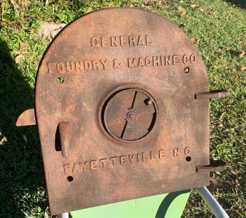 Antique Cast Iron General Foundry & Machine Co Boiler Door Steampunk Industrial