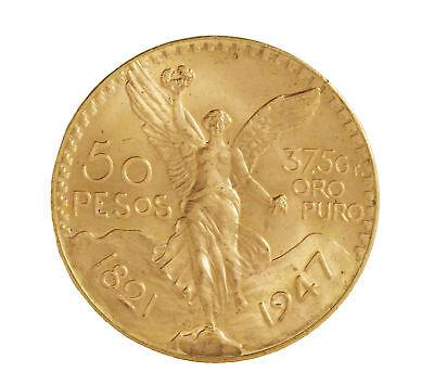 Mexican 50 Peso Gold Coin (Random Date)