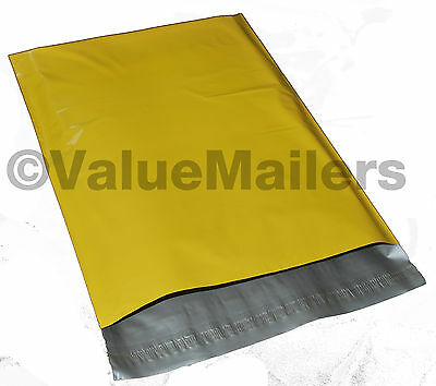50 7.5x10.5 Yellow Poly Mailers Shipping Envelopes Couture Boutique Quality Bags