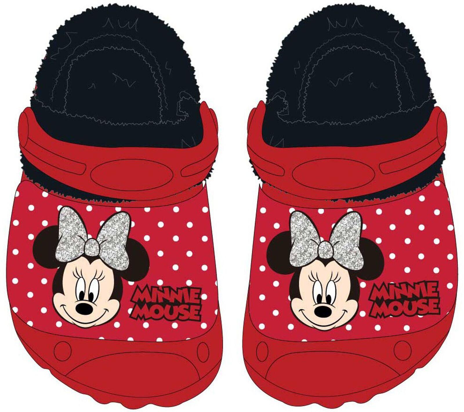 Disney MINNIE MAUS Pantoffeln Hüttenschuhe Hausschuhe Blau