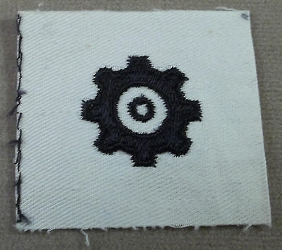 US Navy Engineman Specialty Mark On White Cotton