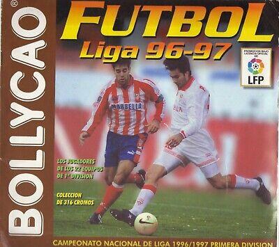 ALBUM CROMOS FUTBOL 96-97 BOLLYCAO,FACSIMIL COMPLETO Y NUEVO
